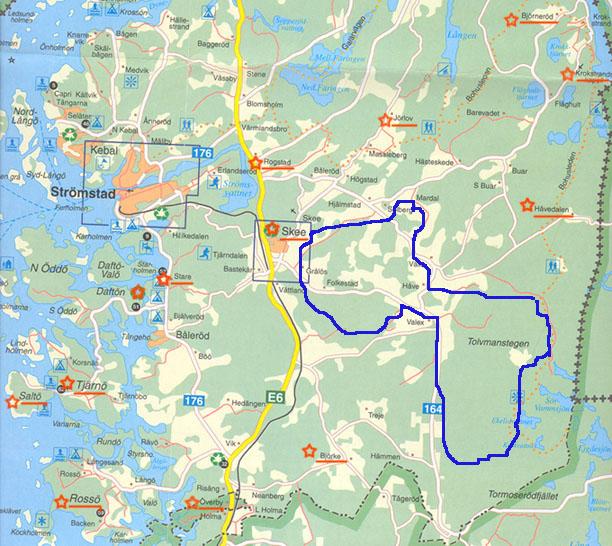 åsknedslag karta Denna karta över Strömstads komm åsknedslag karta
